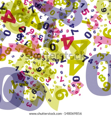 Numbers backgound - stock vector