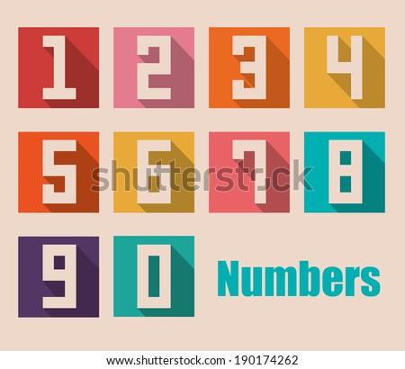 Numbers design over beige background, vector illustration - stock vector