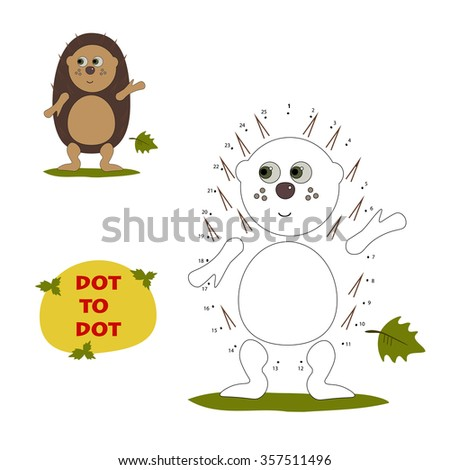 Numbers game with hedgehog,dot to dot game,dot to dot children game,dot to dot games for children, vector, eps8, dot to dot, Numbers game, dots,dotted line, dot to dot puzzle,hedgehog isolated