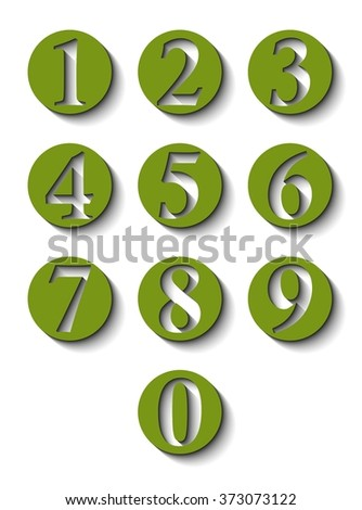 Numbers in green