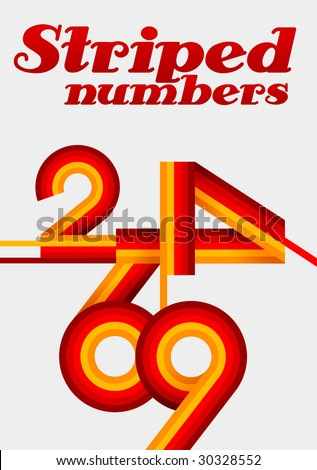 numbers poster - stock vector