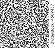 Numbers. Seamless vector wallpaper - stock vector