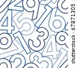 Numbers. Seamless vector wallpaper on white - stock vector