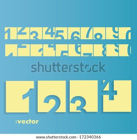 Numbers set. Vector eps 10 - stock vector