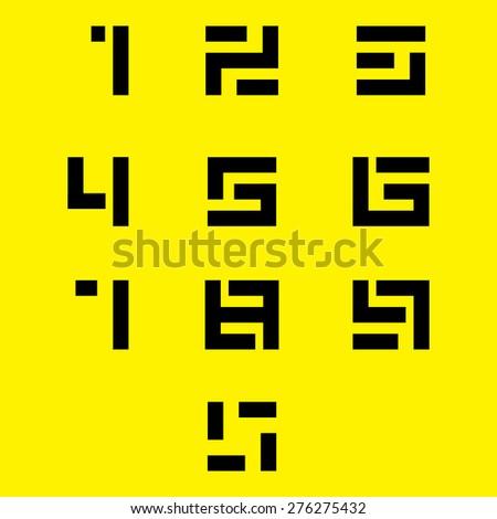 numbers set vector eps10 - stock vector