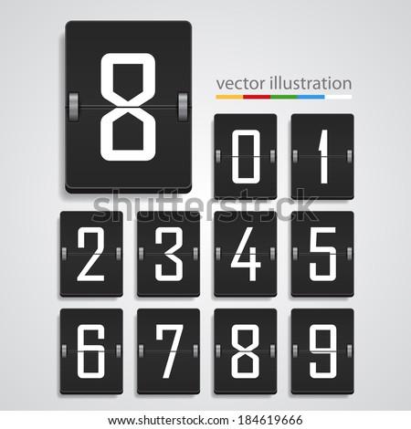 Numeric scoreboard. Vector - stock vector