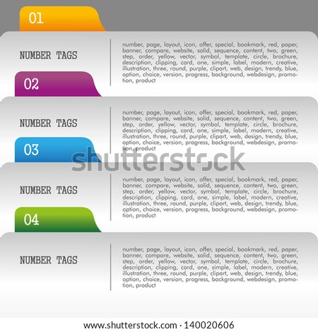 numerical filing over gray background vector illustration - stock vector