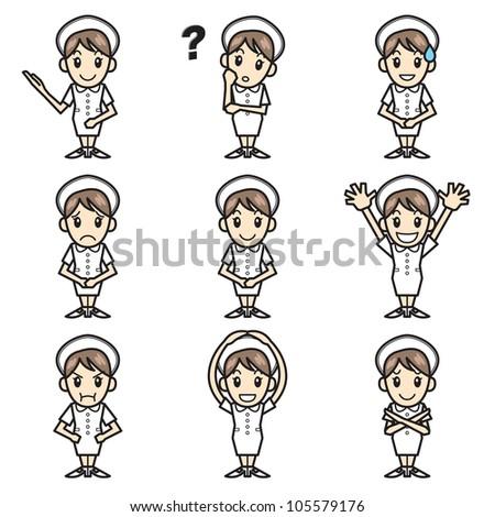 nurse - stock vector