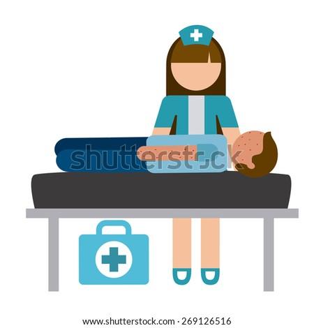 nurse concept design, vector illustration eps10 graphic - stock vector