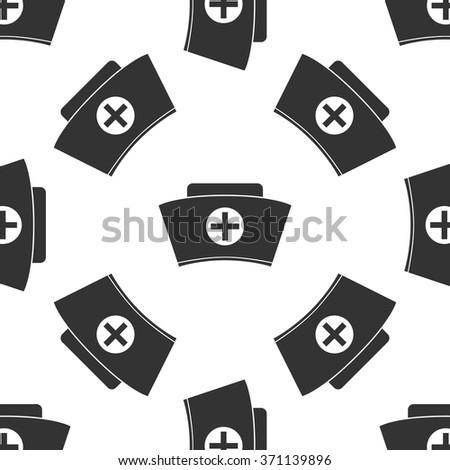 Nurse hat Icon pattern / Nurse hat pattern / Nurse hat pattern Image / Nurse hat pattern Art / Nurse hat seamless pattern / Nurse hat pattern EPS - stock vector