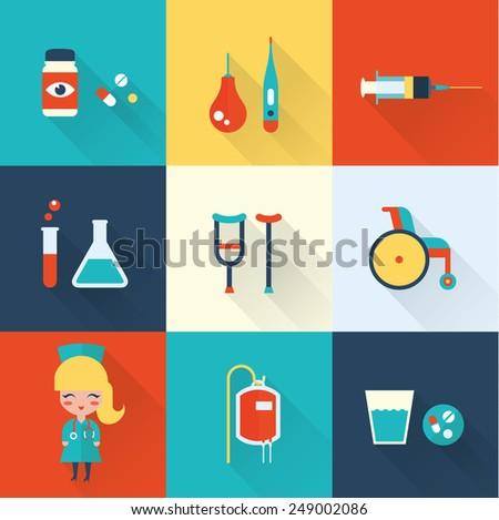 Nurse icons - stock vector