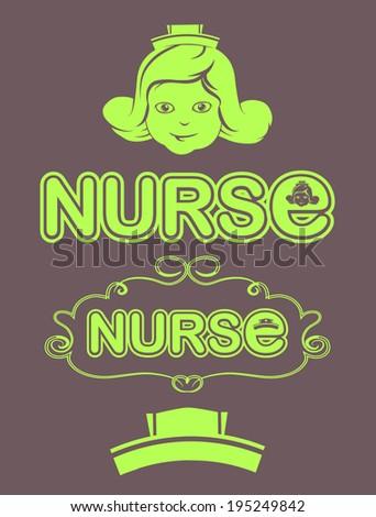 nurse illustration - stock vector