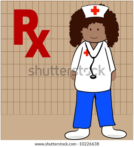 nurse or pharmacist able to give out prescriptions - vector - stock vector