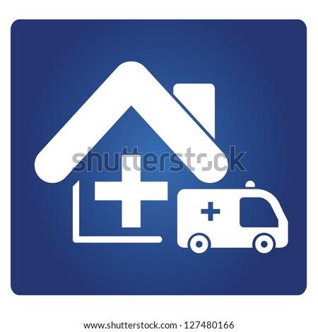 nursing home - stock vector