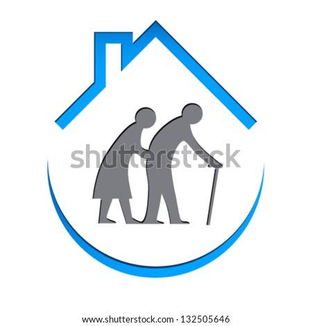 Nursing home sign - vector illustration - stock vector