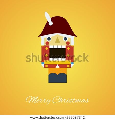 nutcracker christmas flat style. vector illustration - stock vector