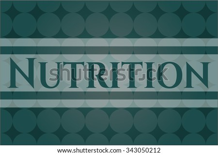 Nutrition card, poster or banner - stock vector