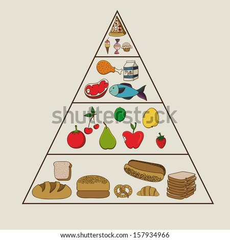 nutrition design over beige  background vector illustration