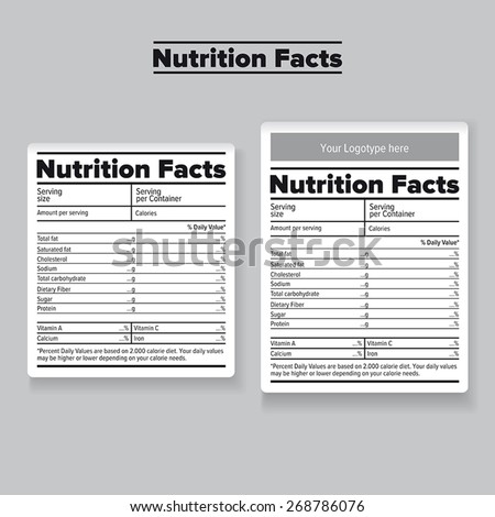 Nutrition Facts Label or