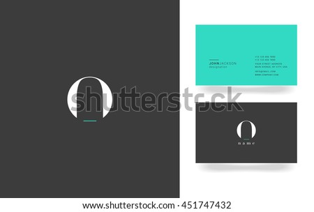 O Letter Logo, Icon, with Business Card Template Vector  - stock vector