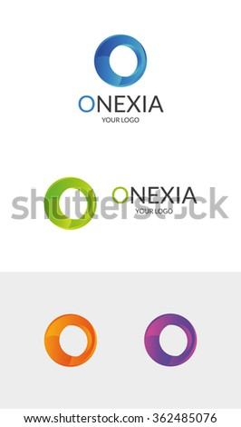 O Letter Logo Template  An excellent logo template suitable for companies whose name starts with the letter O, as well as media and marketing businesses. - stock vector