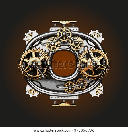 o vector letter with gears