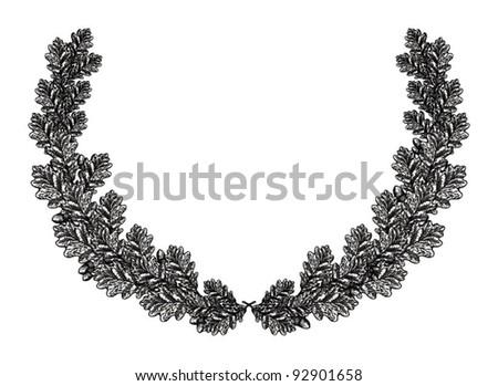 Oak Leaf Acorn Stock Vector 92666212 - Shutterstock