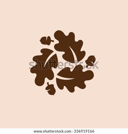 Oak leaf icon. - stock vector