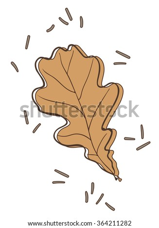 oak tree leaf vector illustration - stock vector