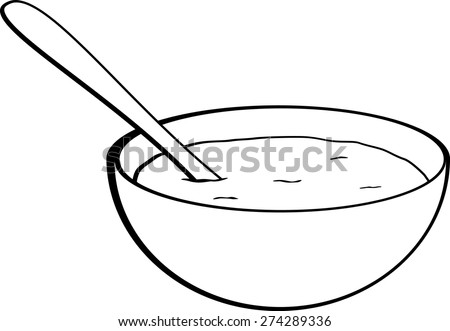 oatmeal bowl - stock vector