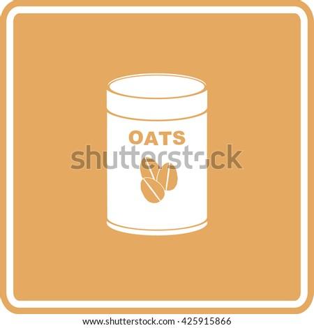 oats bottle sign - stock vector