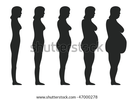 Obesity - stock vector