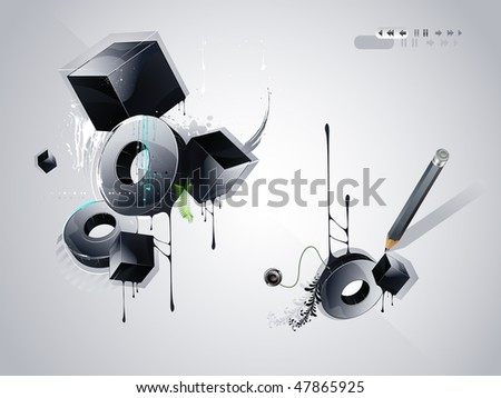 objects in the style of graffiti - stock vector