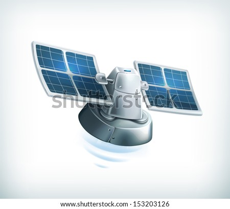 Observation satellite - stock vector