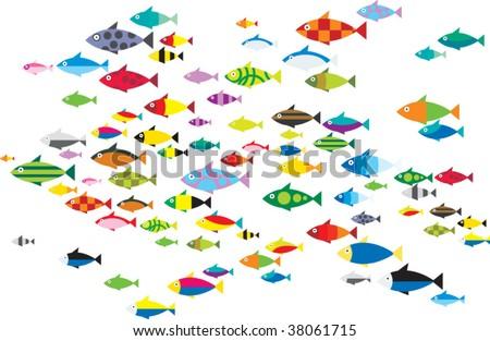 ocean fish - stock vector