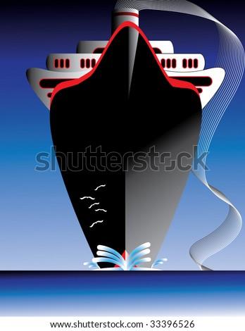 Ocean Liner - stock vector