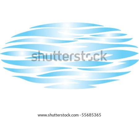 Ocean Ripple - stock vector