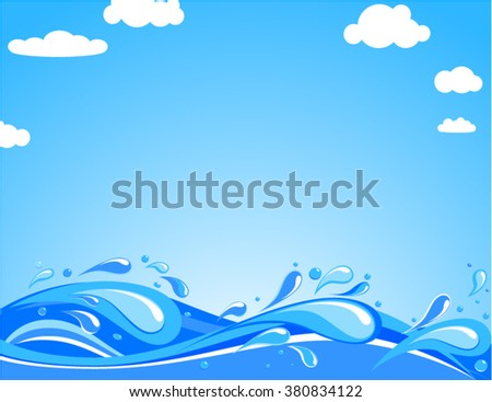 Ocean waves in summer day