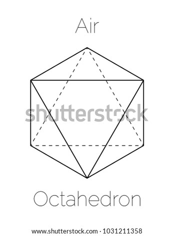 Octahedron Platonic Solid Stock Vector 1031211358