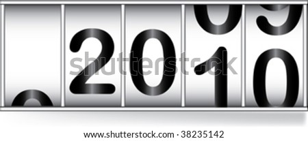 odometer for new  year - stock vector