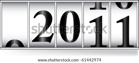odometer for new 2011 year - stock vector