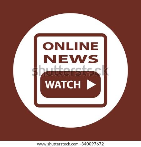 of online news. icon. vector design - stock vector