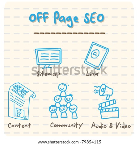 Off Page SEO Vector - stock vector