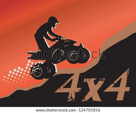 Off-road absctract background, vector illustration - stock vector