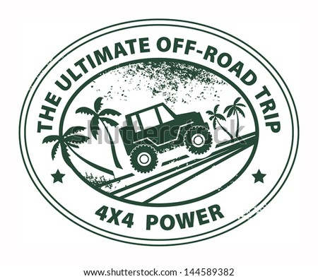 Off-road abstract sticker, vector illustration - stock vector