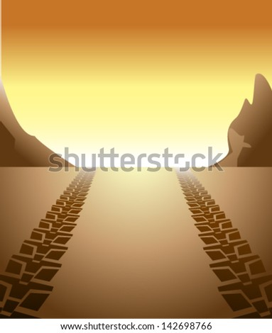 off road background - stock vector