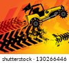 Off-road buggy abstract background, vector illustration - stock vector