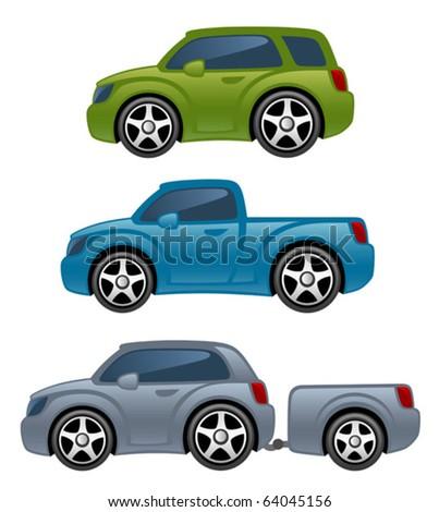 off-road car - stock vector