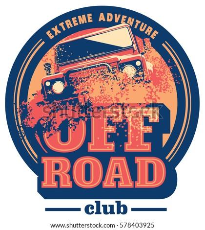 offroad car logo safari suv expedition stock vector 578403925