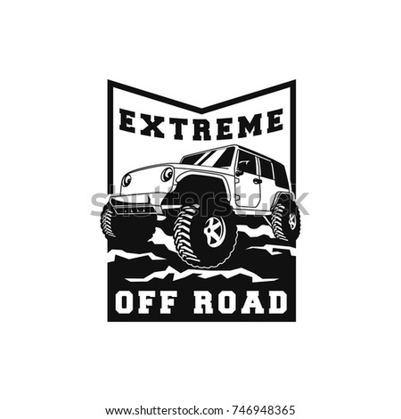 Off road car 4x4 vehicle event stock vector 746948365 for 4x4 label template